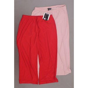 Antthony 2 Pack Crop Pants Red Pink Petite Large